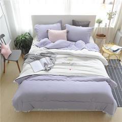 水洗棉舒适绣花被系列(简爱) 200X230cm 简爱-紫