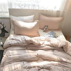 四季被    白小姐 黑夫人系列 150x200cm 晚安熊-灰