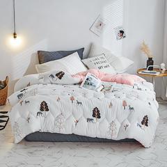 2018新款水洗棉被 1.5m(春秋被)2.6斤 熊出没-粉