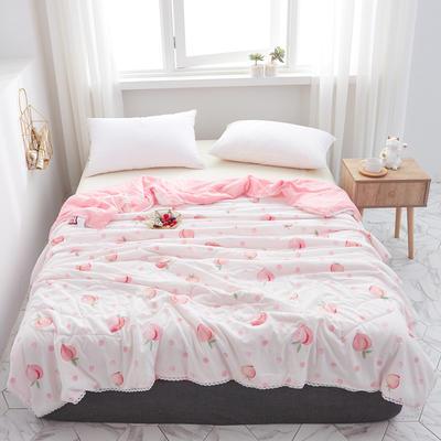 2019水洗棉夏被新款花形促销 春秋被 150x200cm/ 2.6斤 蜜桃