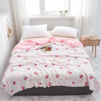 2019水洗棉夏被新款花形促销 春秋被 150x200cm/ 2.6斤 樱桃