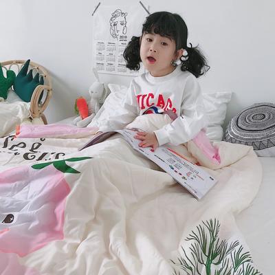 2019新款-大版儿童天丝夏被 150x200cm 屁桃君