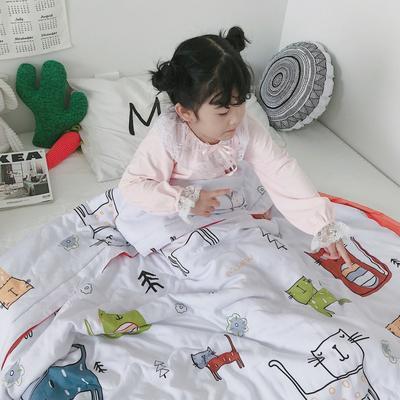 2019新款-天丝儿童夏凉被 120x150cm 喵星球