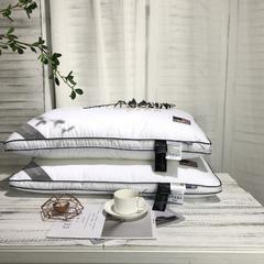 80支全棉贡缎枕芯-英伦刺绣牛奶美肤枕(48*74cm)-2019新款 纯棉 英伦刺绣牛奶美肤枕
