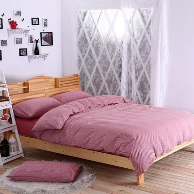 水洗棉 套件水洗棉(3) 1.2m床单款(床单160*230) 红细条