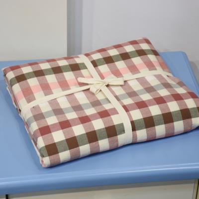 水洗棉单品被套 彩格 200*230 红色彩格