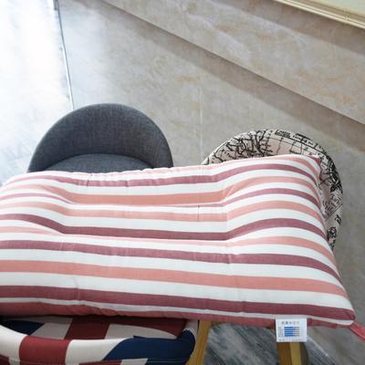 水洗棉枕芯拼色 红条纹48*74