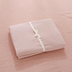 无印良品水洗棉四件套 单品床笠 180*200 粉细条