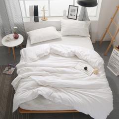 无印良品风水洗棉四件套 1.5床单款 纯白+素颜白