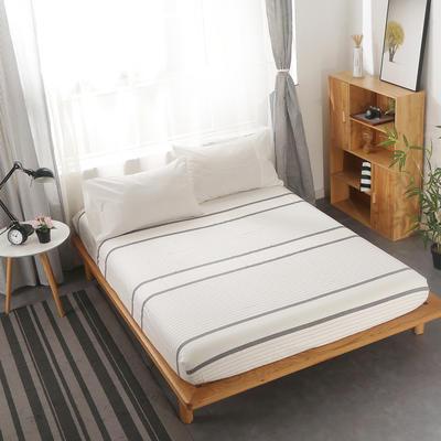 2020新款-水洗棉单品床笠 135cmx200cm 纯白+极简白
