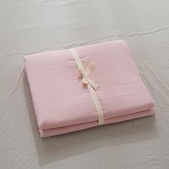 2019新款-全棉色织水洗棉纯色单被套 120x150cm 烟粉