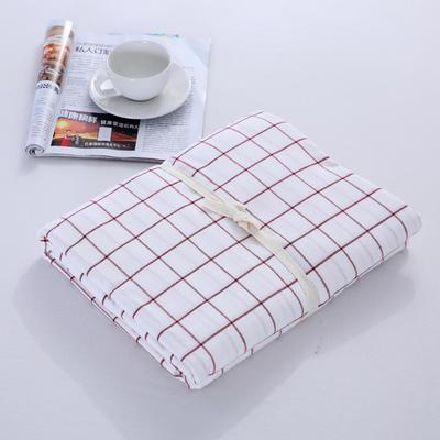 2020新款-全棉色织水洗棉格子单被套 120x150cm 初春