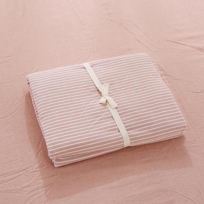 2020新款-全棉色织水洗棉条纹单被套 120x150cm 豆沙细条