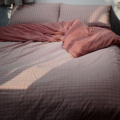 2020新款-全棉水洗棉拼绒保暖四件套 床单款三件套1.2m(4英尺)床 布丁豆沙