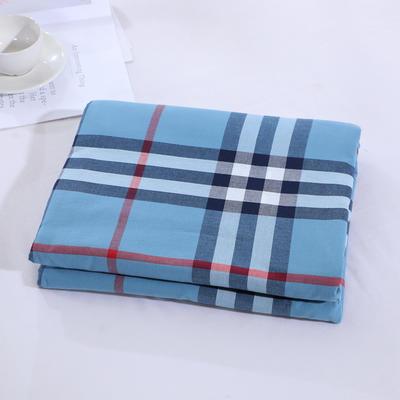 2020新款简约风全棉水洗棉单品被套 120x150cm单被套 百丽格蓝