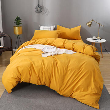 2020新款简约风全棉水洗棉四件套床单款床笠款
