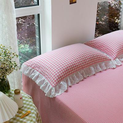 2020新款-唯美蕾丝款花边单枕套 48cmX74cm/只 草莓甜心