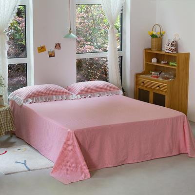 2020新款-唯美蕾丝款花边单床单 160cmx230cm 草莓甜心