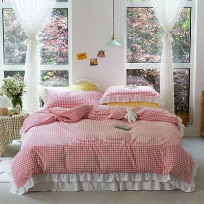 2020新款-唯美蕾丝款花边四件套 床单款三件套1.2m 草莓甜心