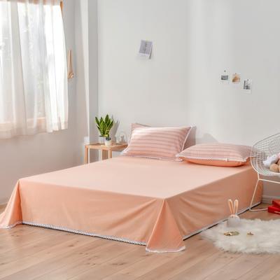 2020新款-全棉色织提花单床单 160*230 全棉色织提花粉