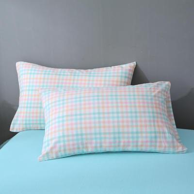 2020新款-全棉色织水洗棉单枕套 48*74cm/一只 冰激凌格