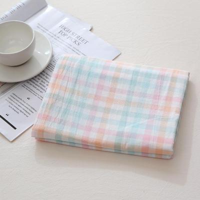 2020新款-全棉色织水洗棉单被套 120*150 冰激凌格