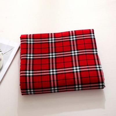 2021新款-全棉色织水洗棉华夫格单被套 160*210cm 华夫格红