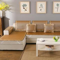 2017 新款冰藤咖啡凉席沙发垫 冰藤咖啡凉席沙发垫 枕套60*60cm