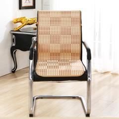 2017 新款竹席格子连体办公椅坐垫 45*130cm 金色格子