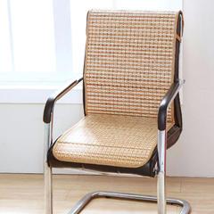 2017 新款竹席条纹连体办公椅坐垫 45*130cm 浅色格子