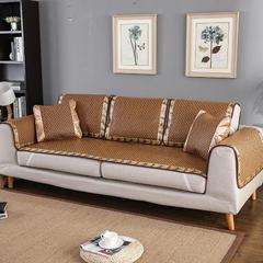 福巢家纺夏季沙发凉席菱形提花古藤加厚全尺寸可定制新款 枕套50*70cm 菱形提花款沙发垫