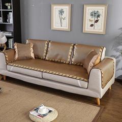 福巢家纺  夏季沙发凉席深色冰藤印花包边全尺寸可定制 80*210cm 深色冰藤印花包边沙发垫