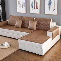 福巢家纺夏季沙发凉席沙发垫冰藤大菱形格全尺寸可定制 60*180CM 冰藤大菱形格沙发垫