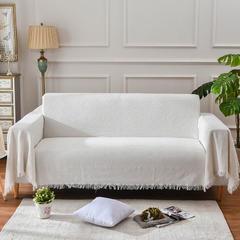 2018纯色白色提花沙发毯沙发巾 130*180 白色