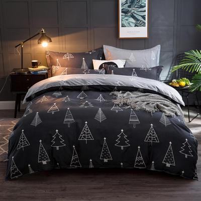 2018北欧风阳绒四件套 2.2m(7英尺)床 圣诞夜