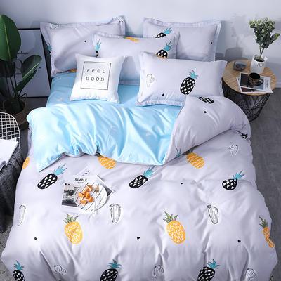 2019新品阳绒套件加厚磨毛 高支高密四件套 1.5m(5英尺)床 菠萝