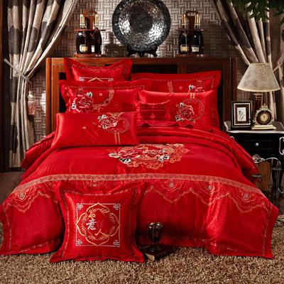 婚庆用品系列臻品款(大红) 含芯小抱枕/只 如意佳人