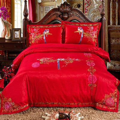 婚庆用品系列臻品款(大红) 含芯小抱枕/只 喜上眉梢