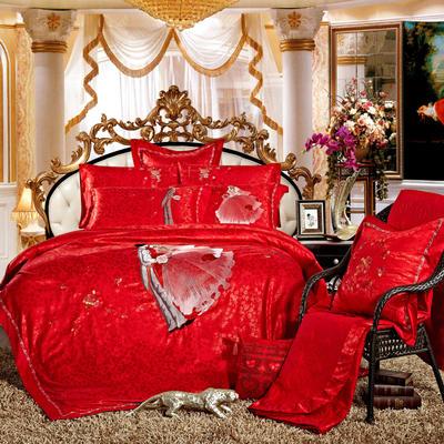 婚庆用品系列中式款(大红) 含芯小抱枕/只 王子的婚礼