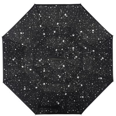 反向伞创意汽车雨伞反骨可站立免持式双层直杆伞 均码 夜空的星