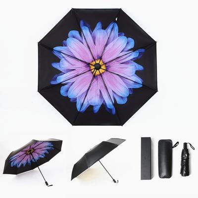 焦下同款小黑伞 三折叠防晒太阳伞超强防紫外线双层伞 晴雨伞 均码 双层琉璃