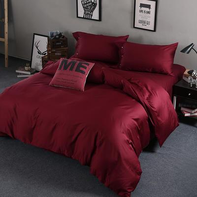 60长绒棉纯色TGH系列 1.5m床 魅力红TGH012C