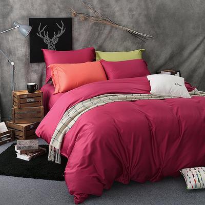 60长绒棉纯色TGH系列 1.5m床 紫枚红TGH017C