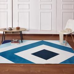新款17印花地毯 0.8*1.5米 170331A