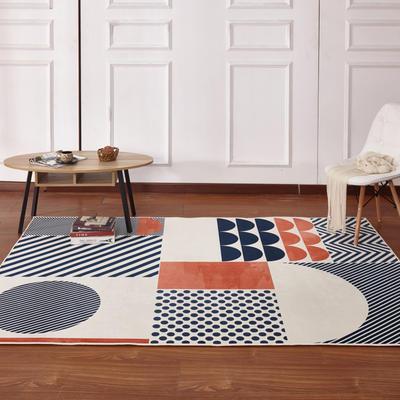 新款17印花地毯 0.8*1.5米 170507A