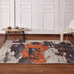新款17印花地毯 0.8*1.5米 170701A