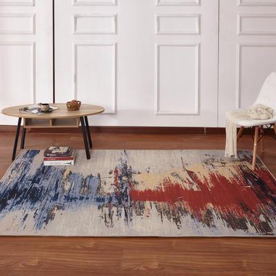 新款17印花地毯 0.8*1.5米 170702A