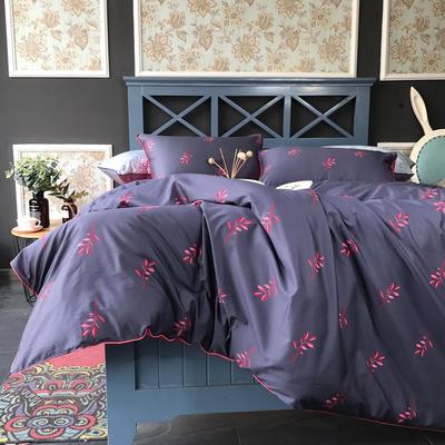2018新款长绒棉数码印花系列四件套(实拍图) 1.8m(6英尺)床 巴黎之春