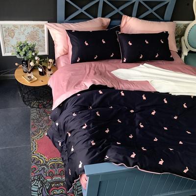 2018新款长绒棉数码印花系列四件套(实拍图) 1.8m(6英尺)床 淡夏记忆
