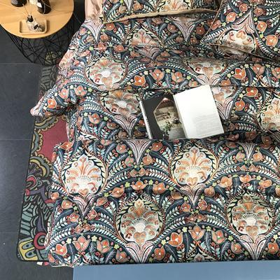 2018新款长绒棉数码印花系列四件套(实拍图) 1.8m(6英尺)床 华尔兹